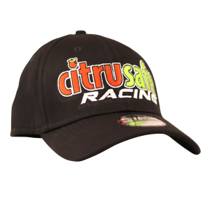 citrusafe racing hat in black with embroidered logo